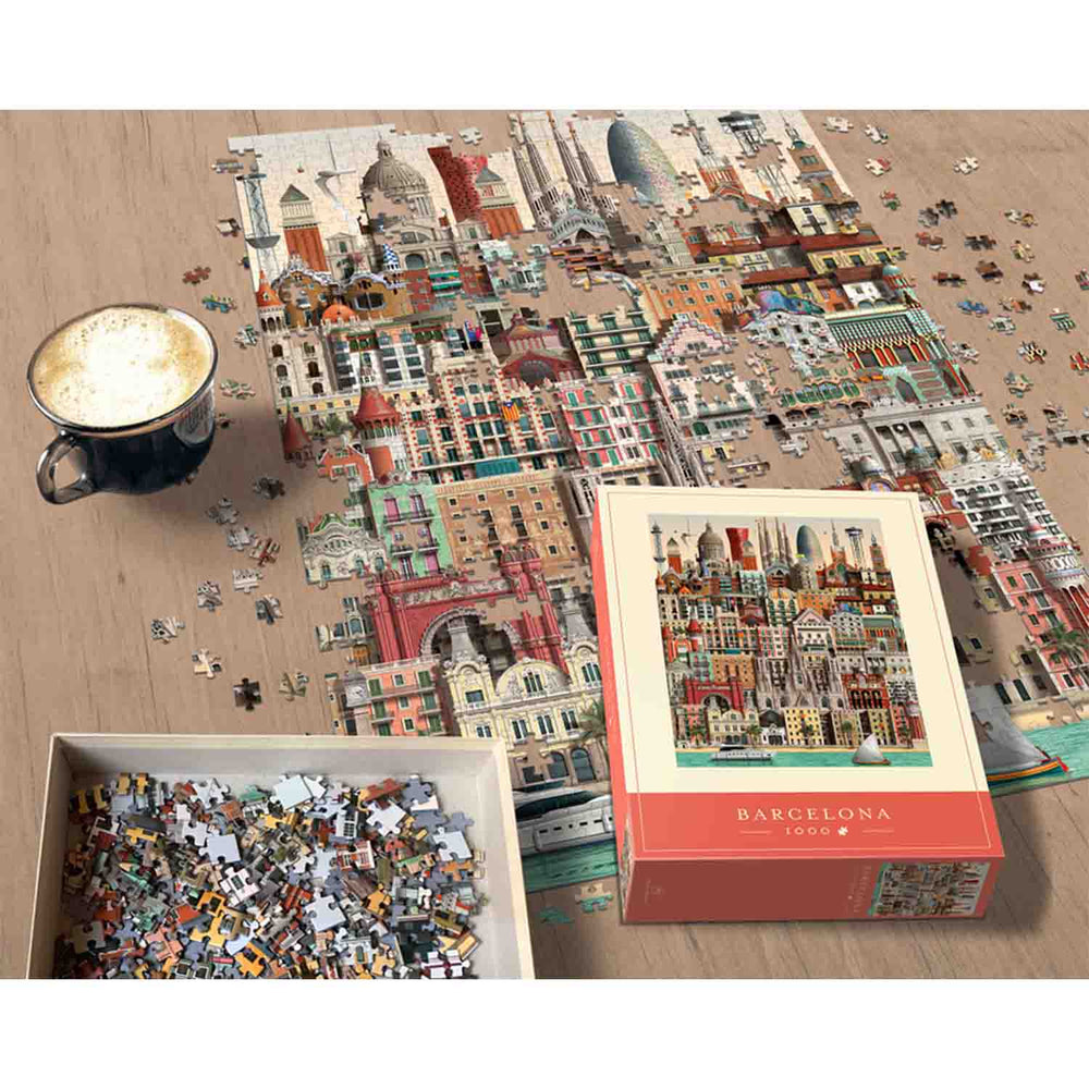 Load image into Gallery viewer, Barcelona Jigsaw Puzzle