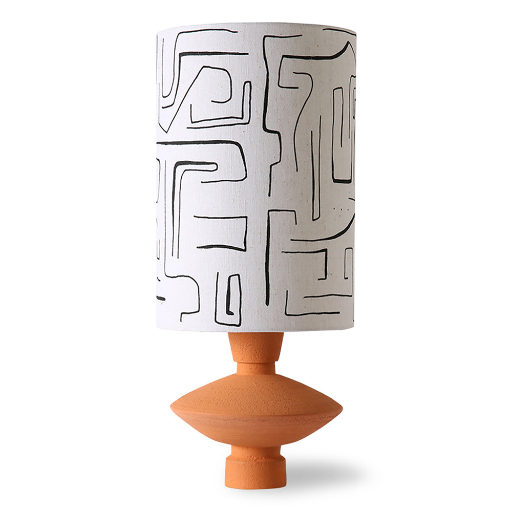 Printed Lamp Shade With Terra Base