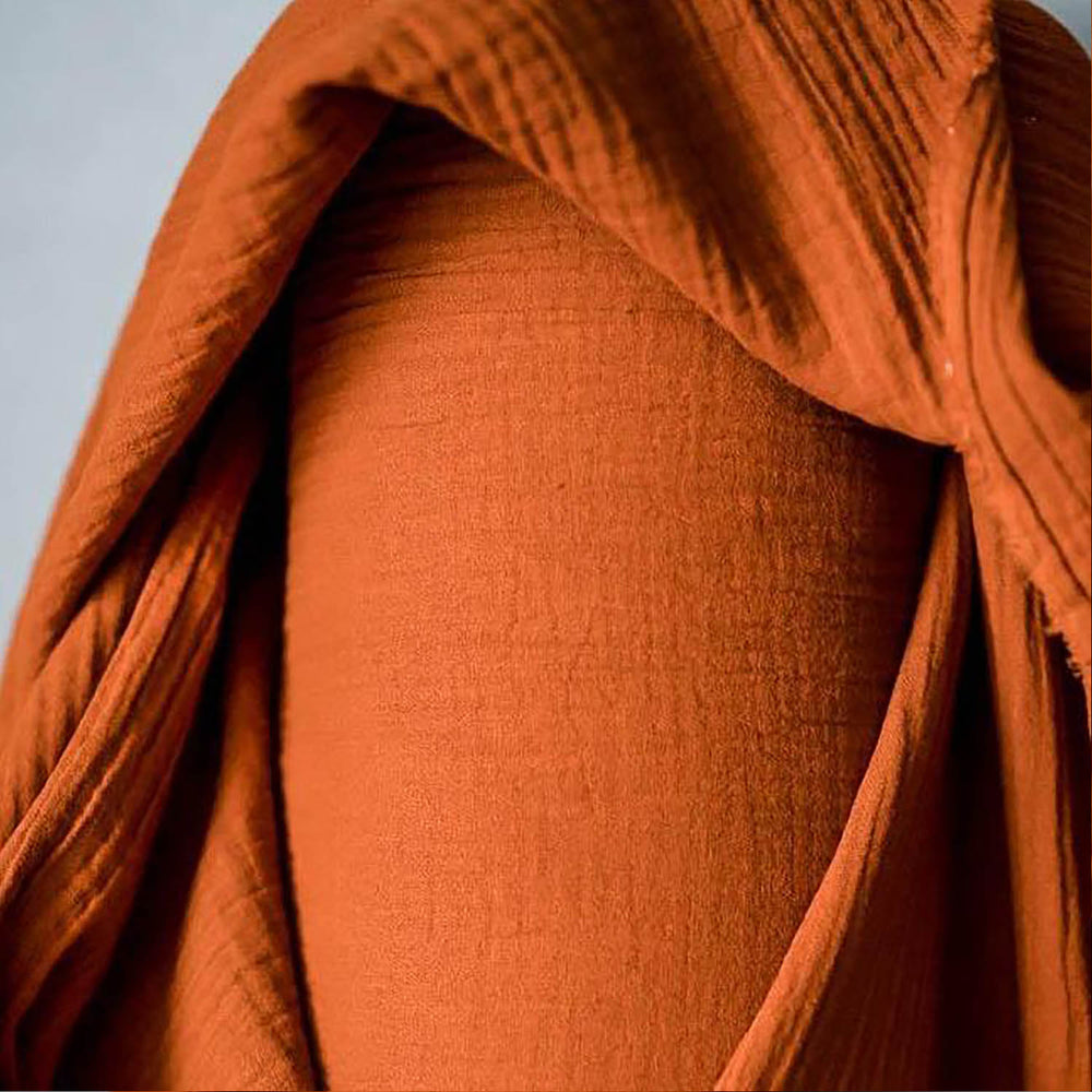 Double Gauze Cotton- Burnt Orange