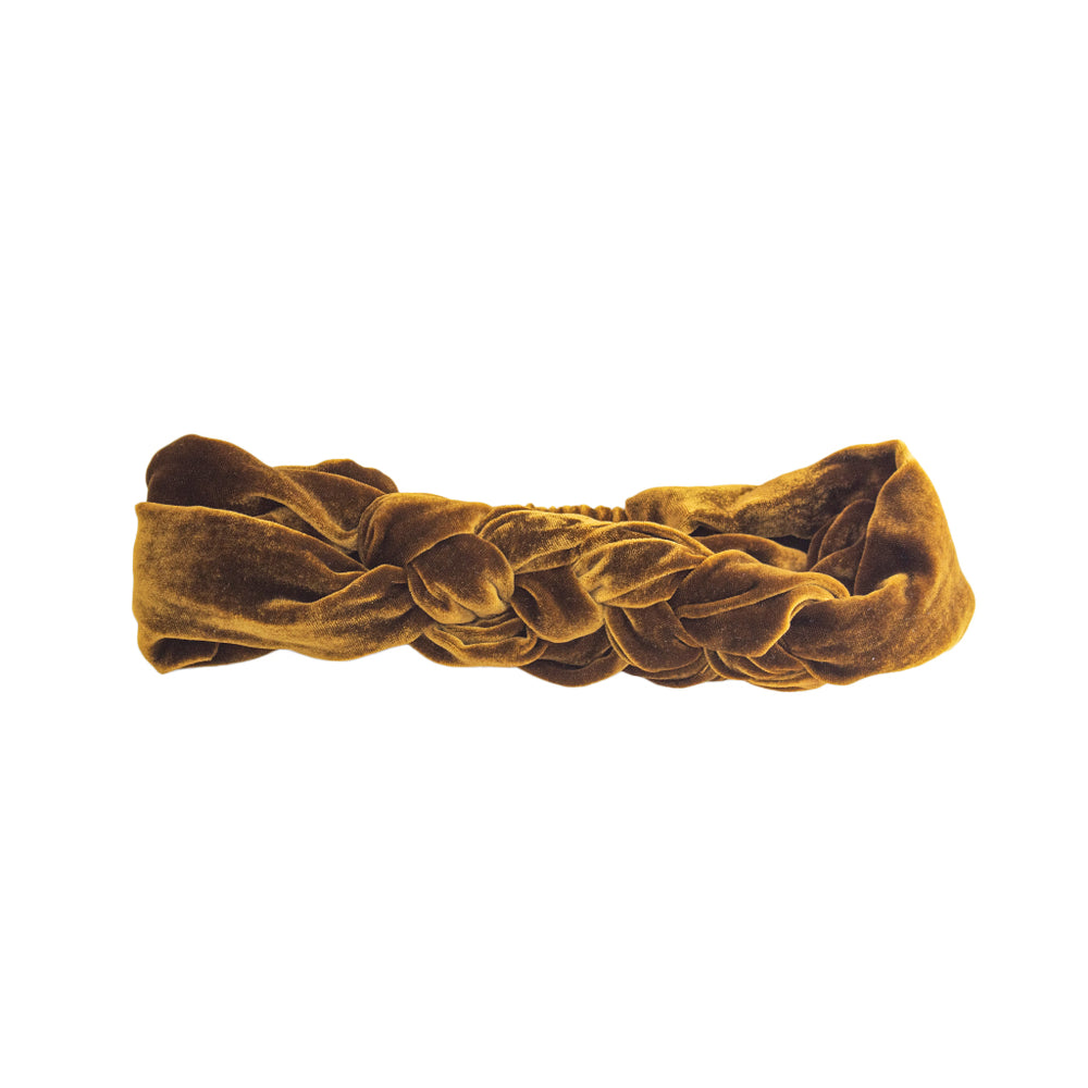 Load image into Gallery viewer, Gold Velvet Celtic Headband