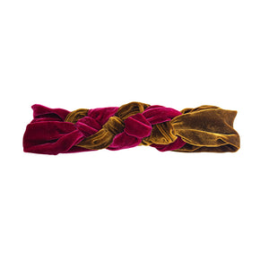 cloth label mustard & magenta silk velvet celtic headband