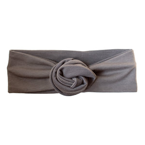 Grey Jersey Fabric headband with flexible wire