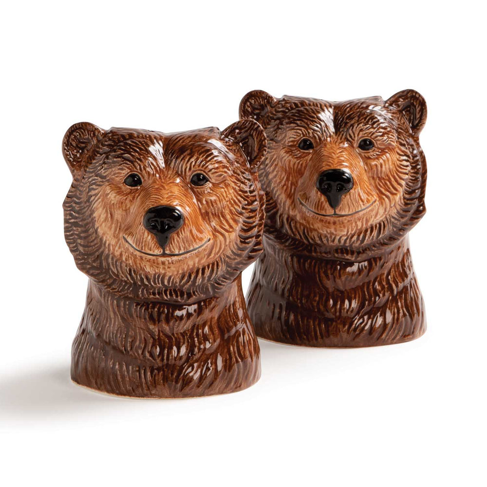&klevering Grizzly Bear Salt And Pepper Shaker Set