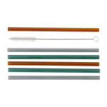 House Doctor Glass Straws With Cleaner