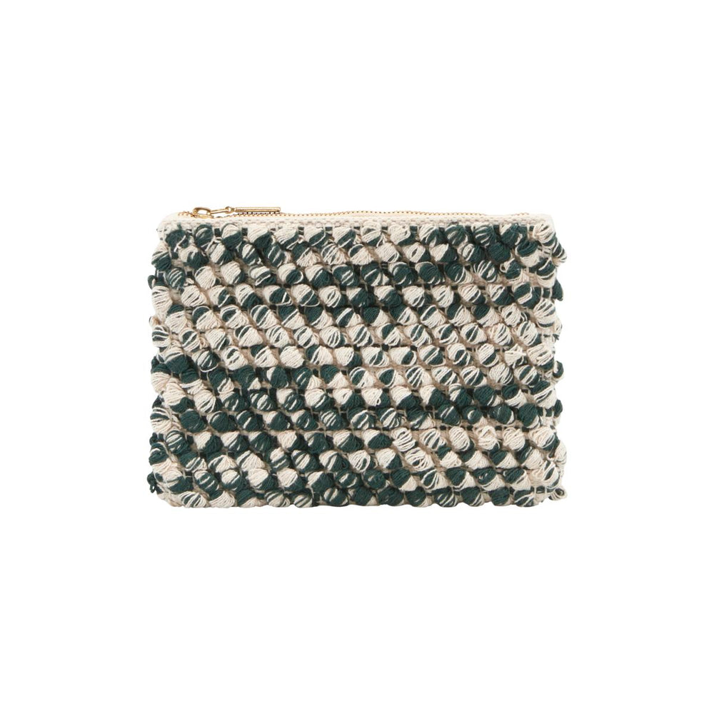 House Doctor Tofted Mix Clutch Bag - Coffee and Cloth