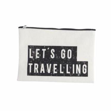 House Doctor Let's Go Travelling Make Up Bag - Coffee and Cloth