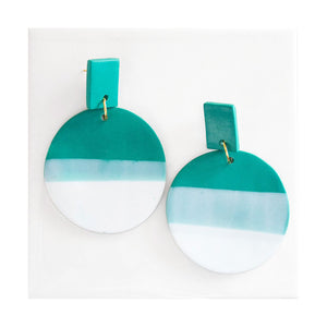 Load image into Gallery viewer, Azadeh Jade Green Earrings Francesca