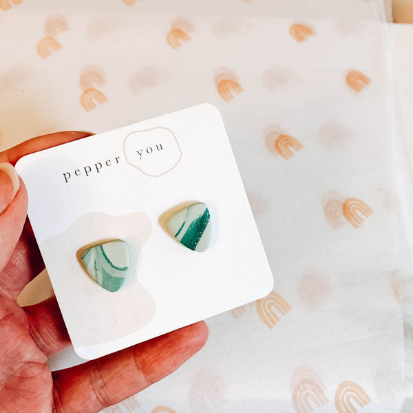 Pepper You Surprise Pebble Watercolour Stud Earrings