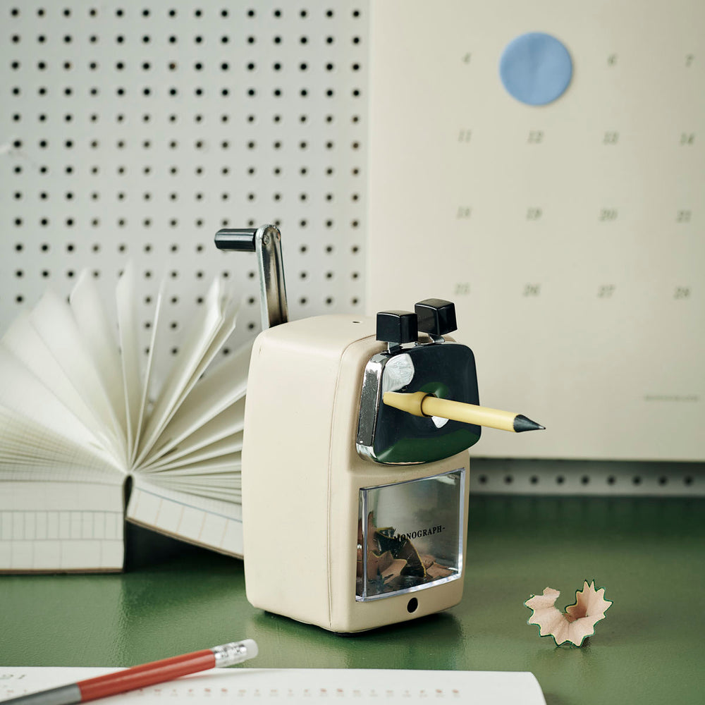 Monograph Retro Ecru Pencil Sharpener
