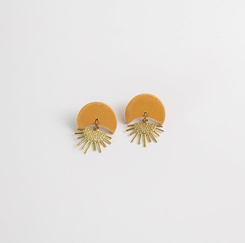 Pepper You Sunset Sand Earrings | Coffee & Cloth UK