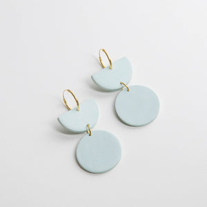 Pepper You Stephanie Hoop Earrings in Faded Blue