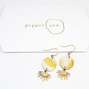 Pepper You Sunset Earrings - Coffee and Cloth