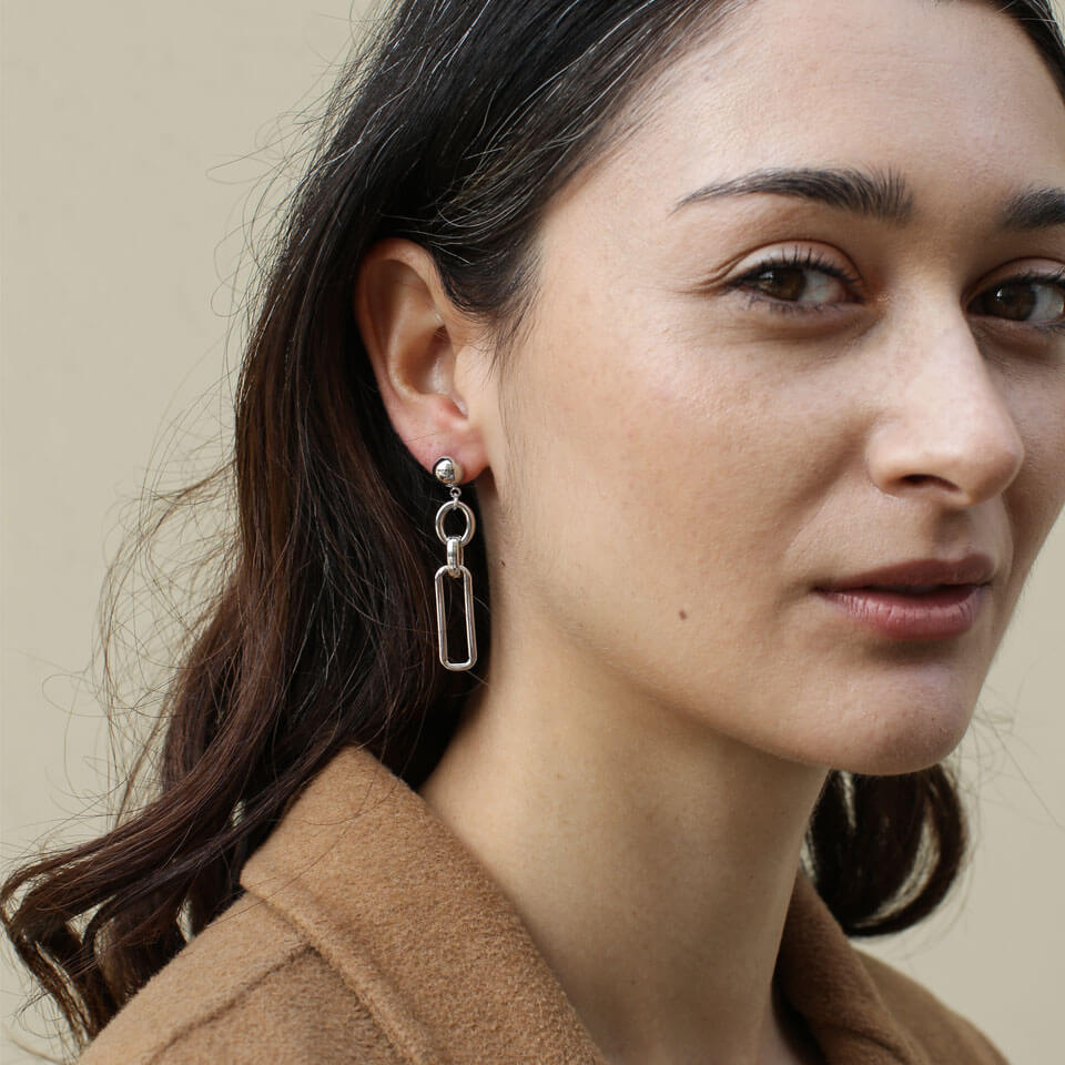 A Weathered Penny Silver Alana Earrings - Coffee and Cloth