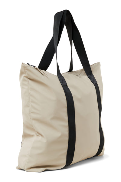 Rains Beige Tote Bag - Coffee and Cloth