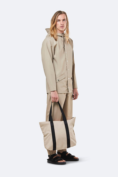 Rains Beige Tote Bag Rush - Coffee and Cloth
