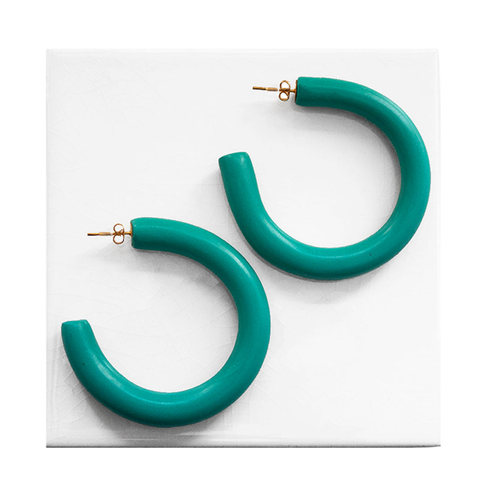 Azadeh Jade Hoop Earrings