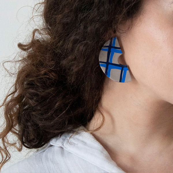 Azadeh Chequed Earrings Nancy
