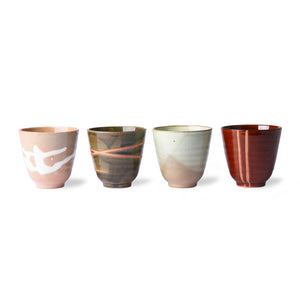 set of 4 multicoloured hk living yunomi mugs