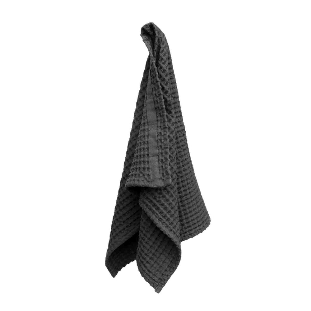 The Organic Company Big Waffle Hand Towel- Dark Grey