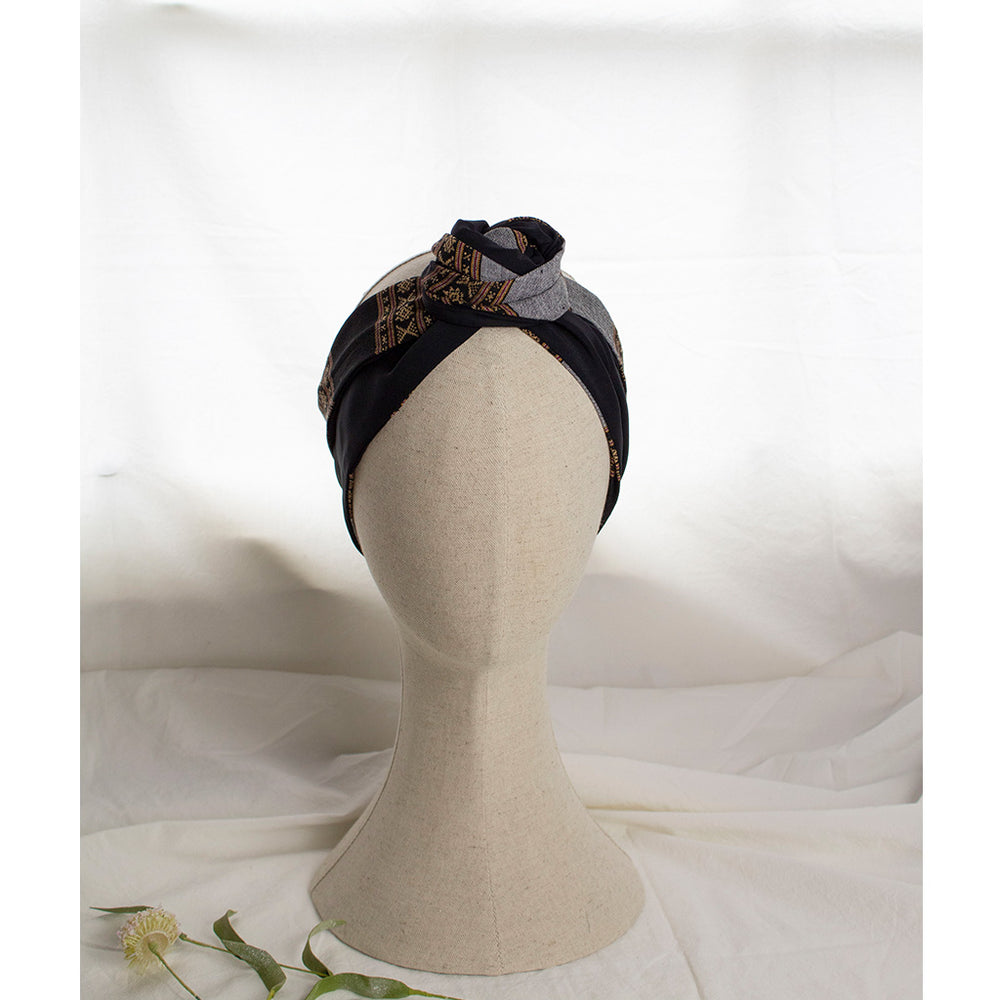 Load image into Gallery viewer, Navy & Grey Headband Notte | Coffee & Cloth UK