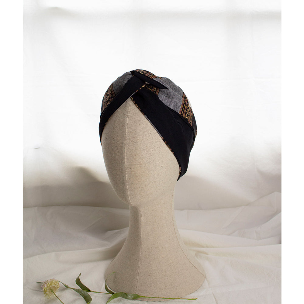 Navy & Grey Headband Notte | Coffee & Cloth UK