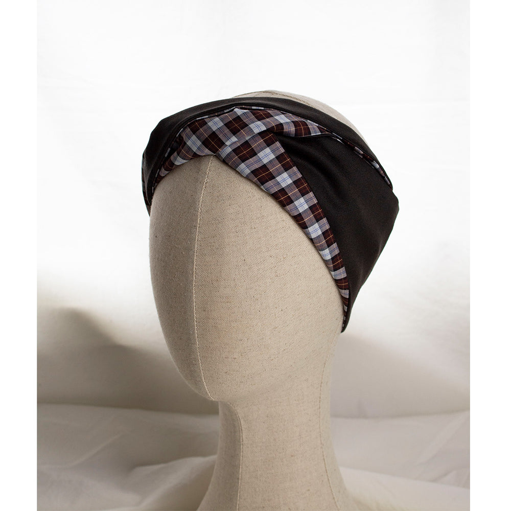 Checkprint Cristina Headband | Coffee & Cloth UK