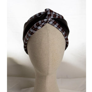 Load image into Gallery viewer, Checkprint Cristina Headband | Coffee & Cloth UK