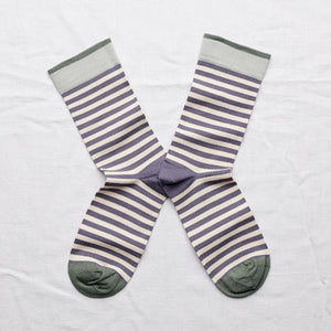 Bonne Maison Nocturnal Stripe Socks - Coffee and Cloth