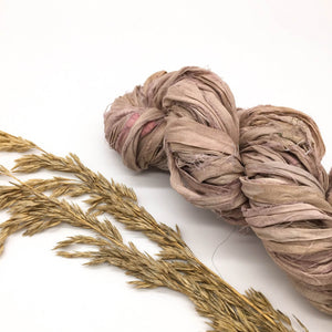 Dusky Sand Recycled Silk Sari Ribbon