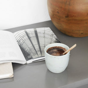 House Doctor Made Handleless Mug - Coffee and Cloth
