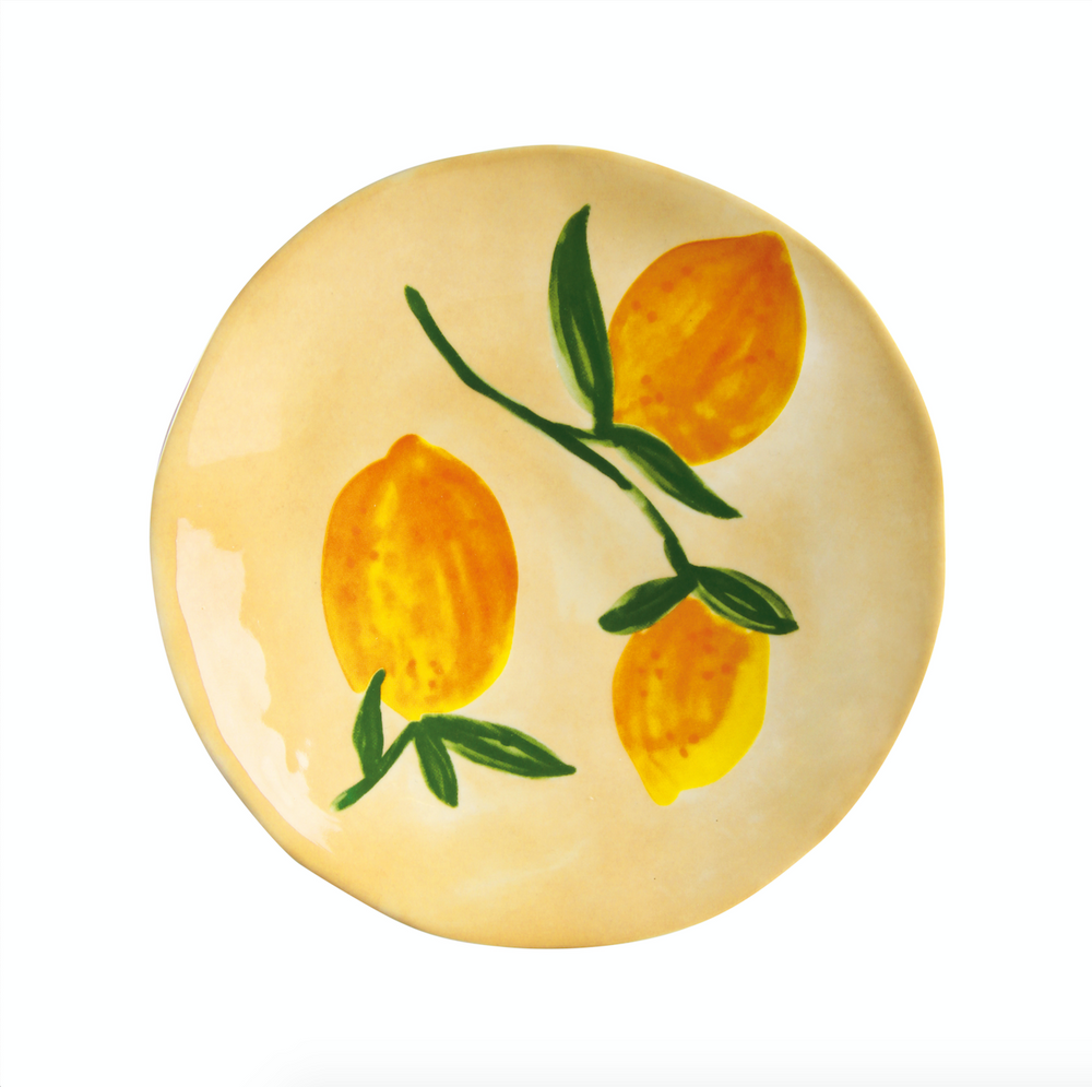 image of &klevering lemon plate on yellow background