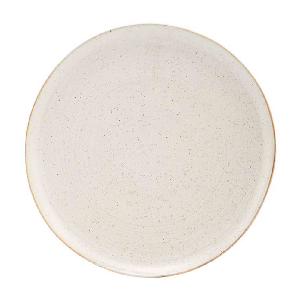 House Doctor Set Of 2 Pion Grey & White Dinner Plate