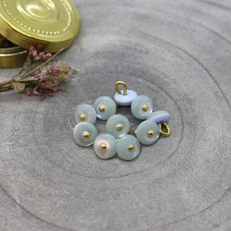 Light Sage Jewel Buttons