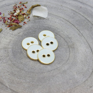 Light Sage & Gold Buttons