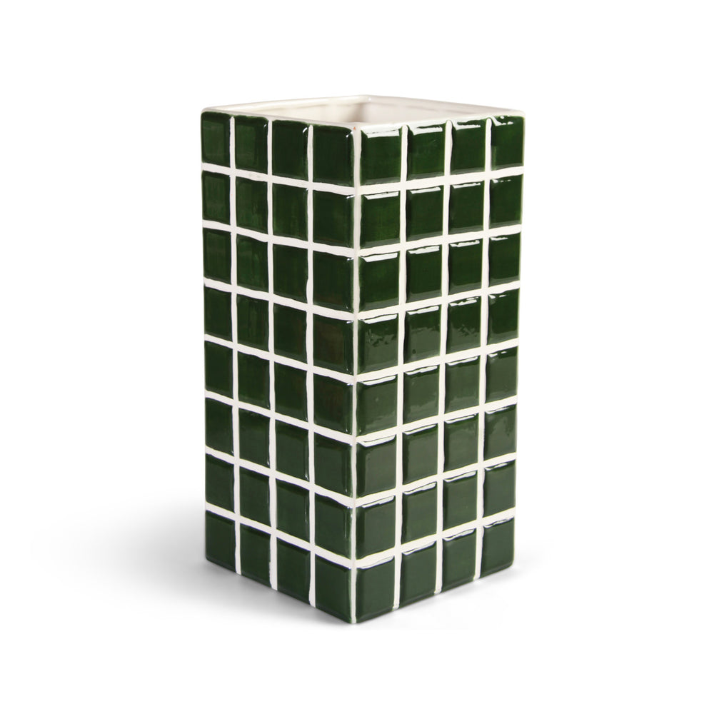 &Klevering Green Tile Vase