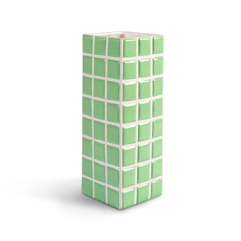 &Klevering Mint Tile Vase