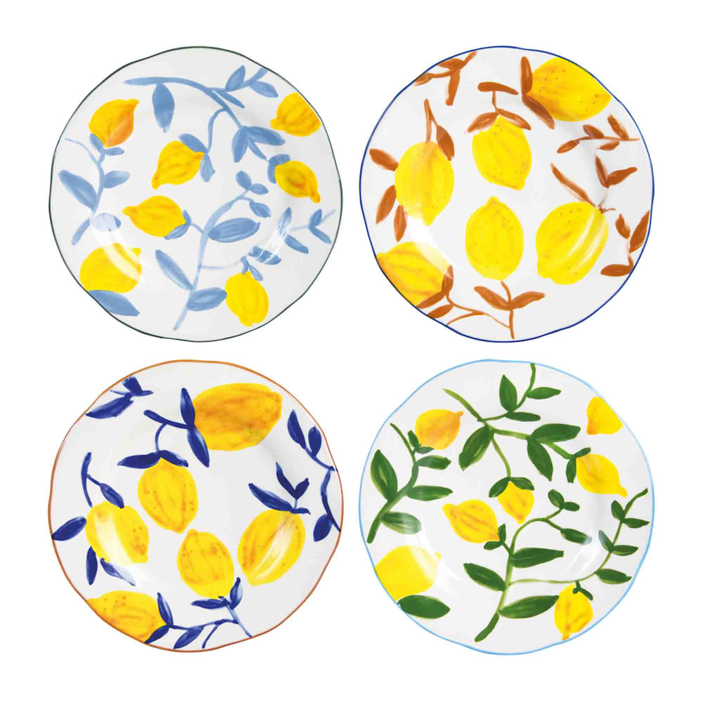 &klevering Set Of 4 Lemon Twig Plates
