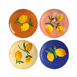 &klevering Set Of 4 Full Colour Lemon Plates