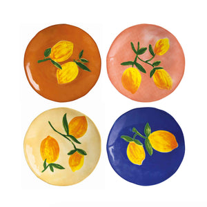 &klevering set of 4 full lemon plates