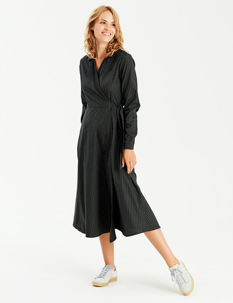 mbyM Otilia Wrap Over Shirt Dress - Coffee and Cloth