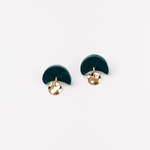 Pepper You Mini Annabelle Earrings in Dark Teal