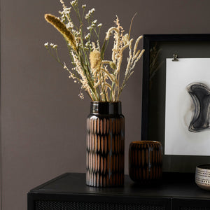 Load image into Gallery viewer, House Doctor Black & Brown Pimpri Glass Vase