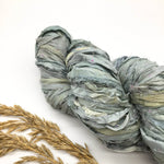 Powder Blue Recycled Silk Sari Ribbon