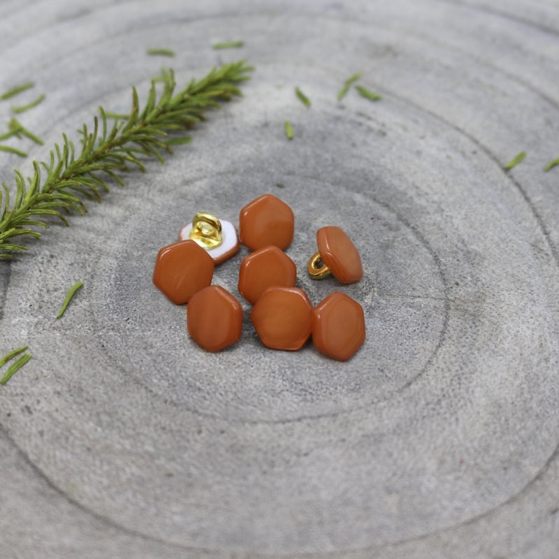 Chestnut Quartz Buttons