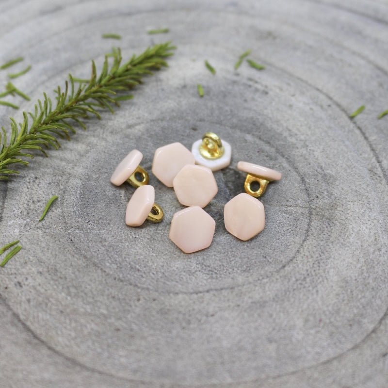 Powder Pink Quartz Buttons