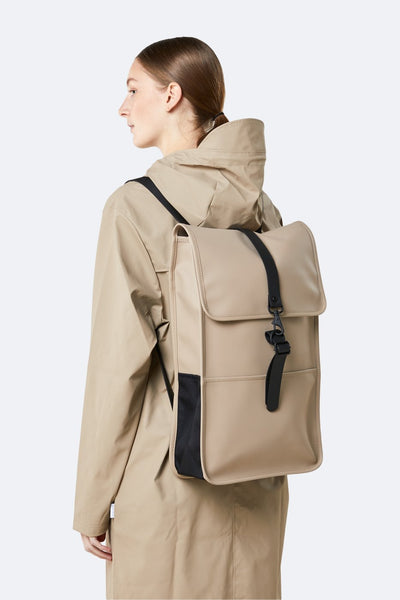 Rains Backpack Beige - Coffee and Cloth