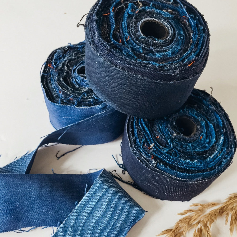 Recycled Denim Ribbon