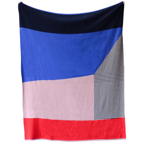 Sophie Home Knitted Bruka Throw- Pink & Red