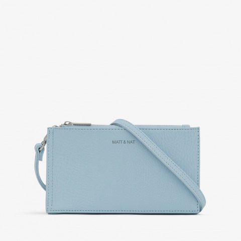 Matt & Nat Tipei Dusk Blue Vegan Leather Dwell Clutch - Coffee and Cloth
