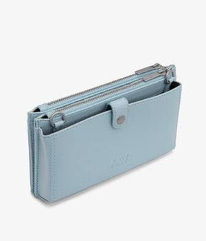 Load image into Gallery viewer, Matt & Nat Tipei Dusk Blue Vegan Leather Dwell Clutch - Coffee and Cloth